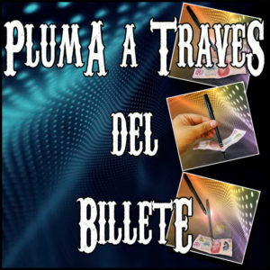Pluma a traves del Billete