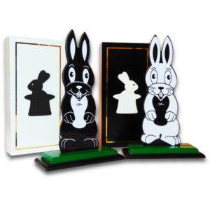 Conejos Blanco y Negro Jumbo (Hippity Hop)