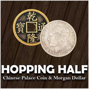 Hopping Chinese Coin (Morgan Dollar and Chinese Palace Coin)