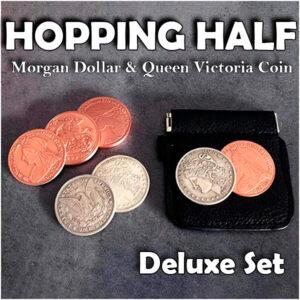 Hopping Morgan (Morgan Dollar and Queen Victoria Ancient Coin)